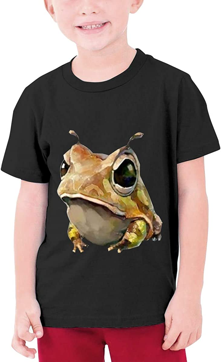 LOUHART Personalized Frog Funny T-Shirt Short Sleeve for Youngster Black