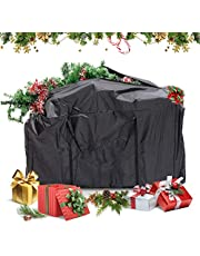 """GEMITTO Heavy Duty Storage Bag, Extra Large Moving Tote, Backpack Carrying Bag with Handles & Zipper for Quilts Cushions Out-of-season Clothes Christmas Tree (45""""x18""""x20""""(1 Bags))"""
