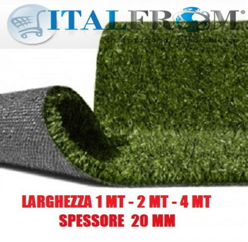 ITALFROM Césped sintético 20 mm H1 H1 H1 X 5Mt – Hierba sintética Alfombra Jardín calpestabile c3f3da