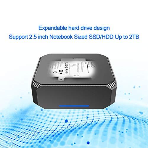 ACEPC AK2 Mini PC Intel Celeron J3455,Windows 10 Micro Computer, 6GB  DDR3/64GB eMMC,4K HD Graphics,Gigabit Ethernet,Dual Band Wi-Fi