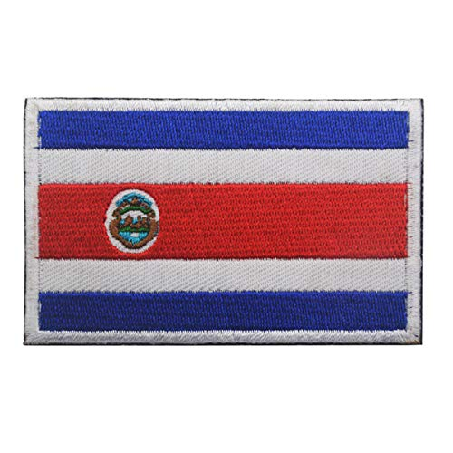 Costa Rica Flag Patch Embroidered Military Tactical Morale Patches (Costa Rica)