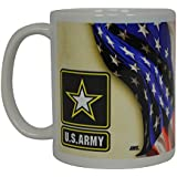 US Army Coffee Mug United States Army USA Flag Patriot Novelty Cup Gift Veteran