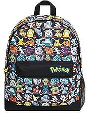 Pokemon schooltas, kinderrugzak met detective Pikachu en Pokemon Ball, grote rugzak met omkeerbaar pailletten ontwerp voor schoolreizen, Pokemon cadeaus voor jongens meisjes tieners
