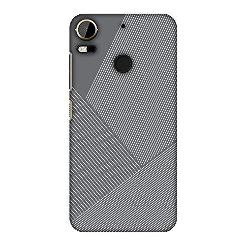 AMZER Slim Designer Snap On Hard Shell Case Back Cover for HTC Desire 10 Pro - Carbon Fiber Redux Stone Gray 1
