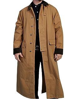 Rw107 Walnut Rangewear By Scully Mens Long Canvas Duster