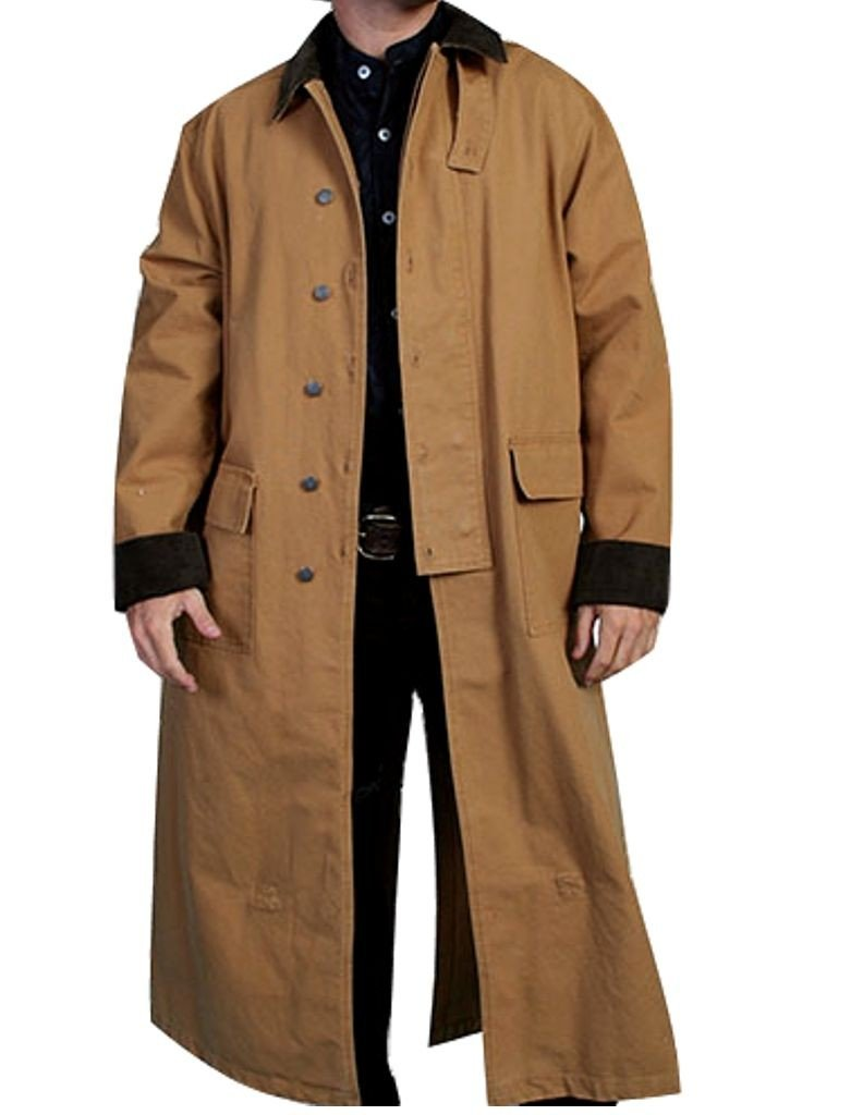 Rangewear By Scully Men's Long Canvas Duster Brown Medium by Scully