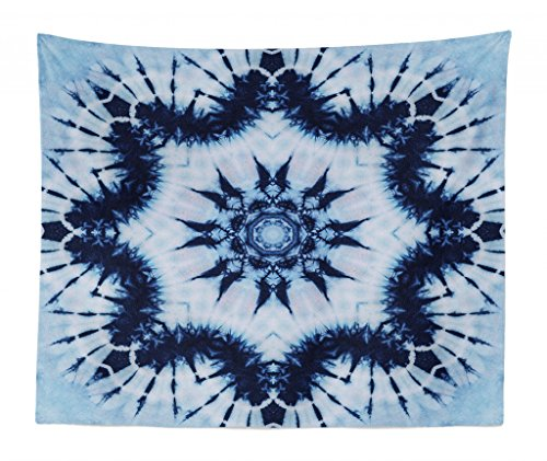 c20a9bb1d719 Lunarable Mandala Tapestry King Size, Tribal Floral Mandala Form Made with  Digitally Folded Radiant Forms Boho Design, Wall Hanging Bedspread Bed ...