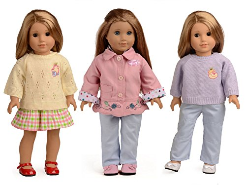 sweet dolly Christmas Gift 5PC Doll Clothes Fits 18 Inch Ame