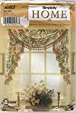 Simplicity Home Pattern 9682 Design Your Own Jabot & Swags Window Treatments