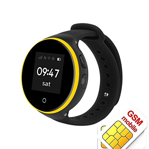 Zero-distance Positioning Kids Children Watch GPRS Anti-lost Smart Watch with GPS Tracker SOS Call Waterproof Smart Wristwatch For Kids (Black) ()