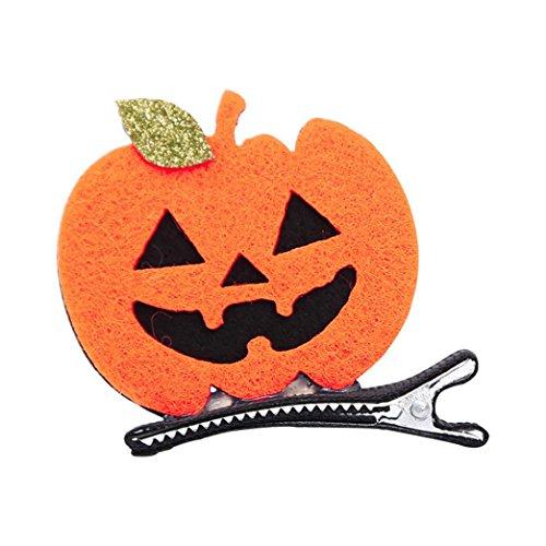 Malloom Hair Clip Bat Pumpkin Ghost Halloween Party Hairpin Dress up Accessories (Halloween Vampire Hair)