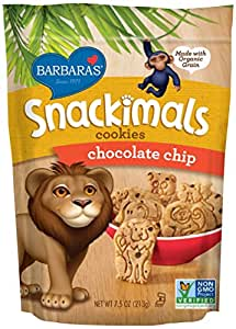 Barbara's Bakery Snackimals Cookies, Chocolate Chip, 7.5 Ounce (Pack of 6)