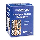 Safari Print Bandages - First Aid Kid Supplies - 1200 Per Pack