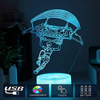 Toys Lamp with 7 Color Changing & Touch Sensor 7 LED Bulbs Desk Decorative Lights Cool Night Light for Birthday Holiday Gift: Home Improvement