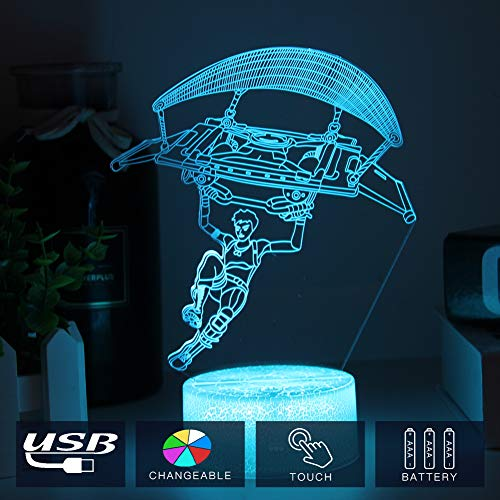 Price comparison product image Boys Gift Night Light Loveing 3d Lllusion Lamp with Touch Switch& Acrylic Base Wedding Birthday Party Family Gathing Decor (crack character gliding)