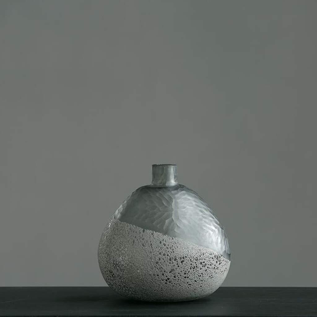 人工吹きガラス花瓶リビングルームドライフラワーフラワーアレンジャー家の装飾 SHWSM (Size : 4.3*22.5*23cm) B07ST974ZG  4.3*22.5*23cm