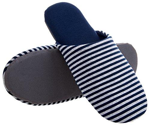 Mixin Hombres Casual House Indoor Outdoor Comfortable Antideslizante Slippers Zapatillas Azul Y Gris