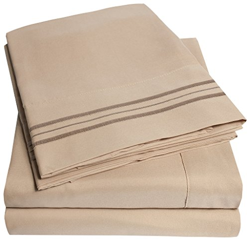 1500 Supreme Collection Extra Soft RV Queen Sheets Set, Taupe – Luxury Bed Sheets Set With Deep Pocket Wrinkle Free Hypoallergenic Bedding, Over 40 Colors, RV Queen Size, Taupe
