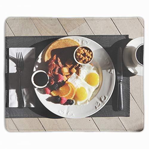 (Unique Blackberries Breakfast Caffeine Printed Mousepad Non-Slip Rubber )