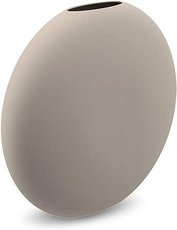 Colore: Grigio Cooee Design Pastille Vaso in Ceramica 15 x 4 x 14 cm