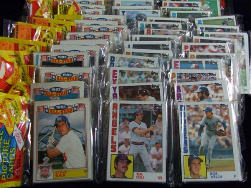 1984 Topps Baseball Cards - RACK Pack (1 Pack of 54 Cards + 1983 All Star Card)