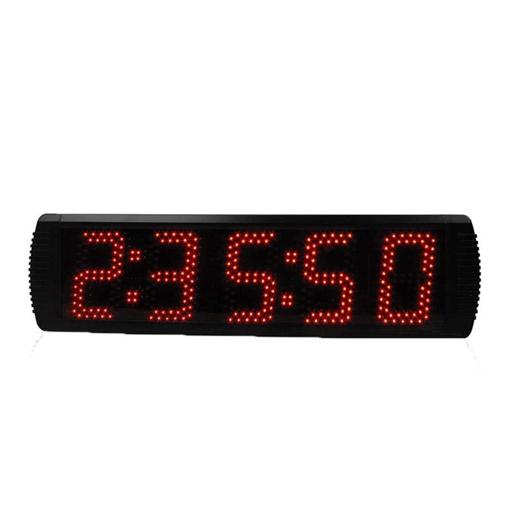 LEDタイマー 大型LEDデジタルカウントダウンクロックカウントダウンタイミング分秒秒リモートコントロール付きカウントダウンタイマーブラック タイマー (色 : ブラック, サイズ : 57X16X4CM) ブラック 57X16X4CM