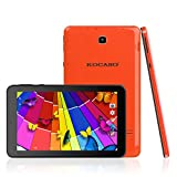 KOCASO MX780 [7 Inch] [Android 4.4] Tablet PC (Quad Core, 8GB Memory, 1024600 HD Display, Dual Camera, WiFi, 3G Dongle, Keyboard, Micro SD Card Slot, Micro USB, & FREE Accessories- Orange