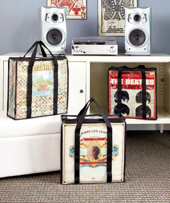A SET OF 3 RECORD ALBUM STORAGE CASES - Each Case Hold 28 Standard Vinyl Records Or Covers