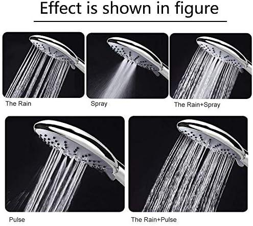soffione doccia universale Etmury testa cromata con tubo doccia anti-nebbia da 1,5 m soffione doccia con 5 modalit/à Set doccetta con tubo flessibile