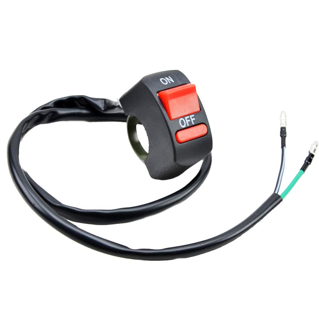 Riverlily Universal Motorcycle Handlebar Flameoff Headlight On/Off Button Switch Motorbike Accessoies