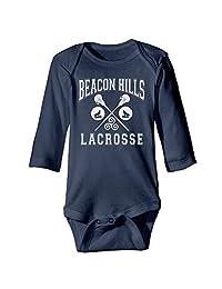 Kids Baby Beacon Hills Lacrosse Long-sleeve Romper Jumpsuit Navy