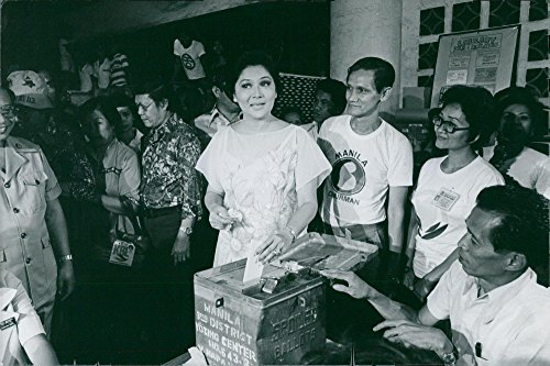 Vintage photo of Imelda Marcos, spouse of President Ferdinand Marcos