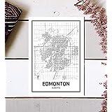Edmonton Poster, Edmonton Map, Map of Edmonton, City Map Posters, Modern Map Art, City Prints, Map Wall Decor, Minimal Print, Map Poster, City Poster, City Map Wall Art, Minimalist Posters, 8x10