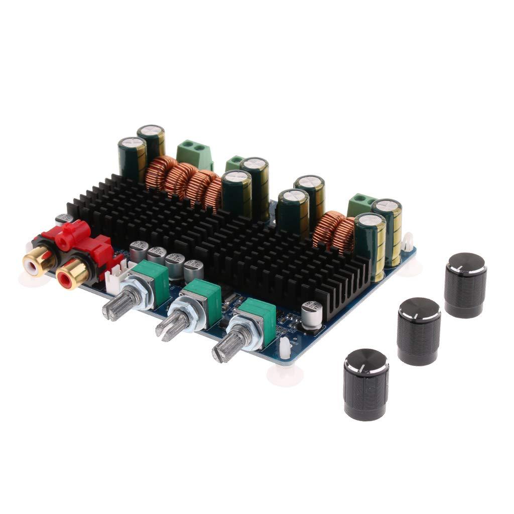 Baoblaze Módulo de Placa de Amplificador de Alta Potencia Controlador de Audio Subwoofer Bajo 100W Dual Canal