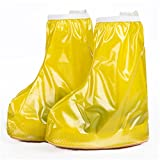 Waterproof Rain Cover Shoes Covers Boys Girl's Reusable Anti-Slip Shoe Cover Yellow M