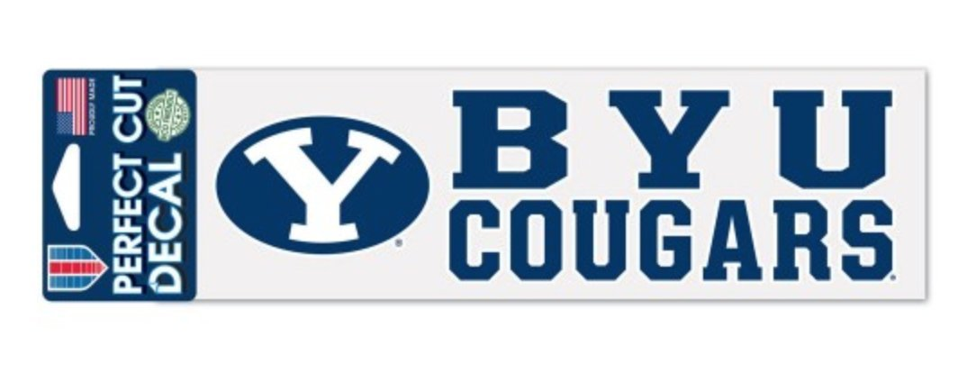 WinCraft NCAA Brigham Young University BYU Cougars 3 x 10 inch Perfect Cut Decal