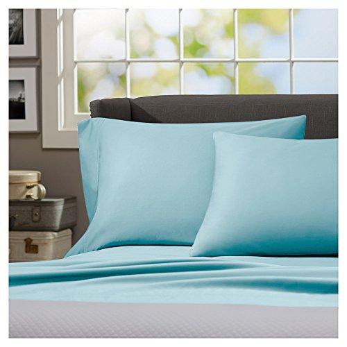 - Winkle Resistant Regency Home Cotton Linen Sateen Sheet Set, (Full, Aqua)