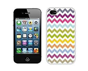 Graceful Multi Grunge Chevron Iphone 4 Case 4s White Cover Personalized Cell Phone Accessories