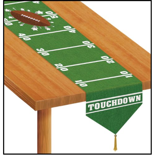Printed Football Table Runner Accessory