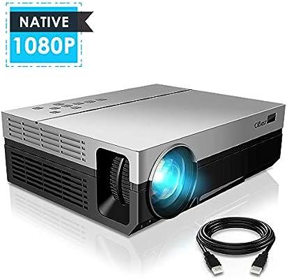 Amazon.com: 1080P Projector, CiBest Upgraded Native 1080P ...