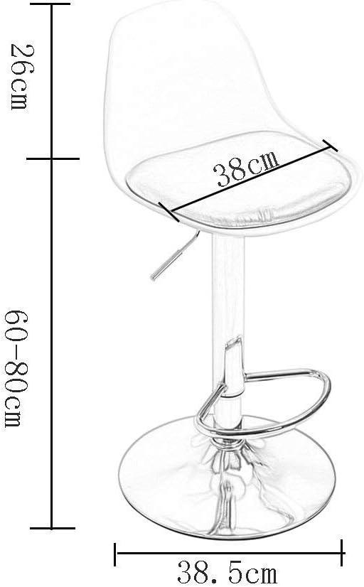 Chaise de Bar, Tabouret de Bar à Rotation à 360 degrés Tabouret de Bar Chaise télescopique à Dossier Haut Chaise de comptoir Red