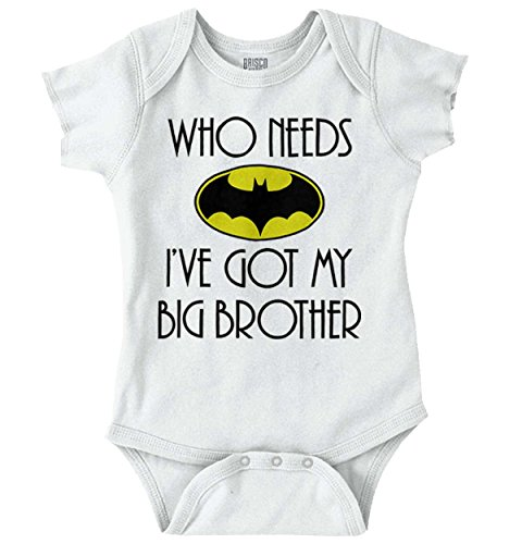Who Needs Bat Big Brother Cute Nerdy Hero Romper Bodysuit