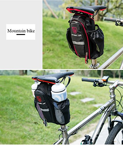 Bike Bag, ThorFire Bicycle Strap on Saddle Bag Bike Seat Tail Bag Splashproof Pack Pouch Tool Kit for Road Bicycle Mountain Bikes MTB BMX Cycling