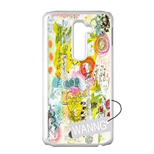 Colorful Abstract Rubber LG G2 Plastic Case, Colorful Abstract Rubber DIY Case for LG G2 at WANNG
