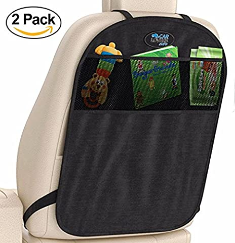 Car Lovers Care Kick Mat Organizer & Car Seat Protector. Water Resistant for Summer or Winter Use. Adjustable Straps, Universal Fit Covers Your Backseat from Stains Caused by Baby Boys, Girls or Child