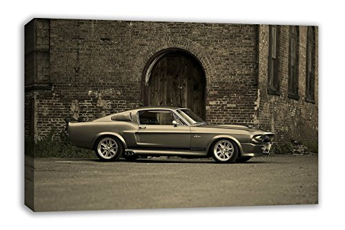 (FORD MUSTANG SHELBY GT500 ELEANOR CANVAS WALL ART (30