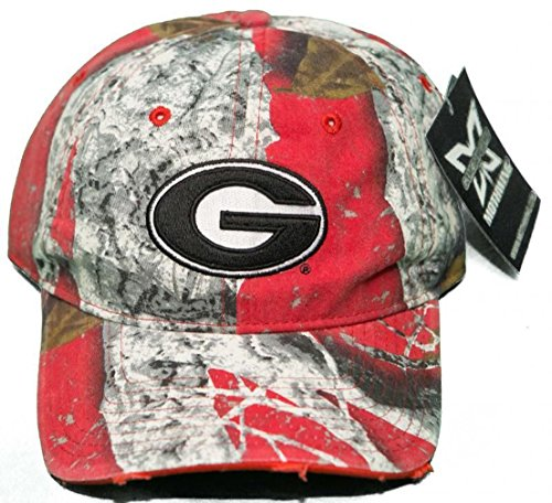 University of Georgia Bulldogs Buckle Back 3D Embroidered Mothwing Camo Cap