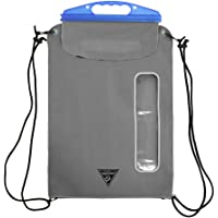 Seattle Sports E-Merse Neo GoPack 10.5L - Waterproof Dry Bag Submersible Backpack with Window, Blue Steel