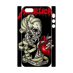 Unique Hard Back 3D Case for iPhone 5,iPhone 5s w/ Metallica image at Hmh-xase by waniwa