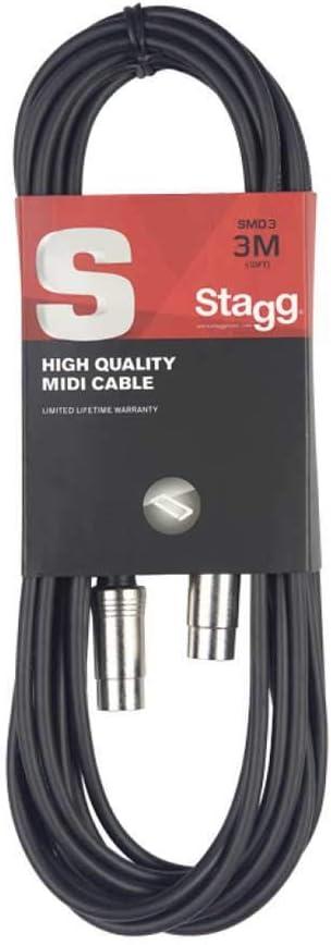 STAGG SMD3S 시리즈 남성 DIN 남성 DIN 미디 케이블-10FT
